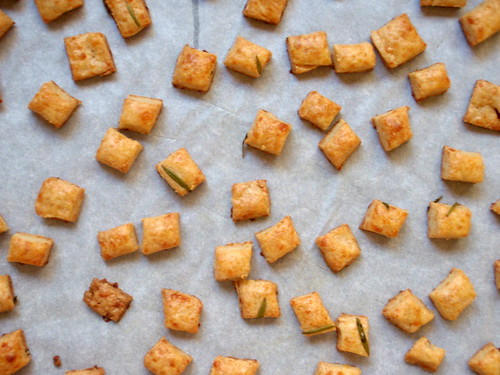 Rosemary cheese crackers
