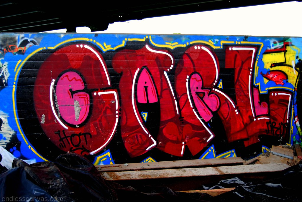 Hot Carl Graffiti Piece in Oakland, California.