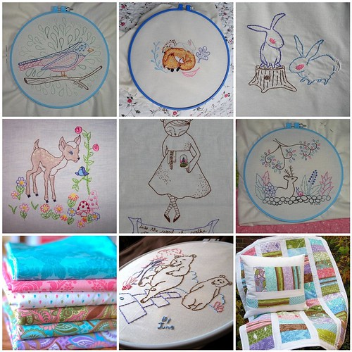 My Hoop Up Embroideries (so far ...)