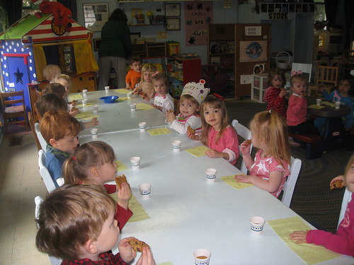 Celebrating her birthday at preschool...can you find her?