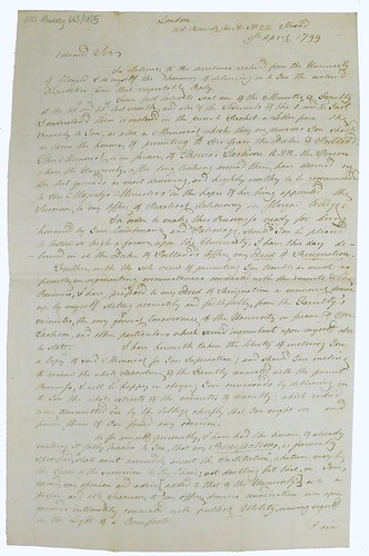 Letter from Patrick Wilson to Henry Dundas (First Page)