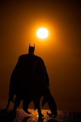 The Dark Knight (misterperturbed) Tags: silhouette fog batman dcdirect