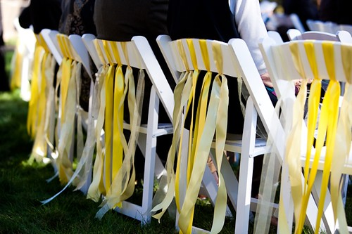 decorate church chairs for weddings