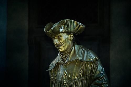 Bronze face
