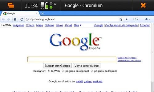 Chromium en el nokia n900
