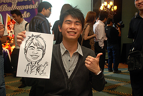caricature live sketching for Panasonic Factory Solutions D&D -2