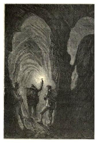 018-En el descenso-Viaje al centro de la Tierra-Voyage au centre de la terre-ilustrado por Edouard Riou