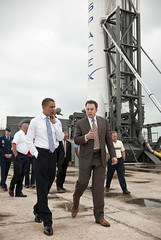 Obama Kennedy Space Center Visit (201004150013HQ) (NASA HQ PHOTO) Tags: usa florida nasa capecanaveral fla barackobama uspresident humanspaceflight elonmusk capecanaveralairforcestation billingalls