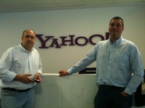 Con Javier Peláez en Yahoo