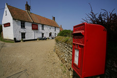 The Red Box - norfolk (Adam Swaine) Tags: county uk blue red england sky english beautiful rural canon landscape countryside village britain norfolk cottage villages east postbox pubs 1740mm inns 2010 counties whitehorseinn naturelovers titchwell thisphotorocks adamswaine mostbeautifulpicturesmbppictures wwwadamswainecouk
