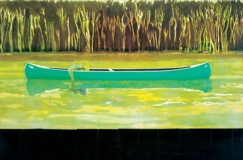 Canoe-Lake by Peter Doig