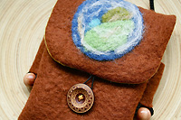 Gaia my mother...an earthy purse