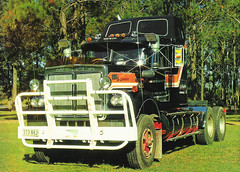 Mr. Lovemaker | Cliff Radke (deviatea) Tags: white tractor bunny classic truck vintage diesel qld queensland outback 1980 freight cummins trucking bobtail roadtrain haulage primemover bigcam thangool roadboss clifferadke 773nki
