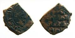 1042Fd-Frac.dirham taifas,ceca de al-Bunt.Ahmad ibnMohammed Yum al Daula.   ,  (divuite) Tags: valencia pila monedas   pesa alpuente   pesal