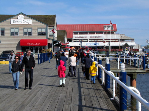 Steveston's Fisherman's Wharf in Richmond BC is particularly popular in the spring and summer
