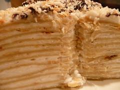 Coconut Crepe Cake