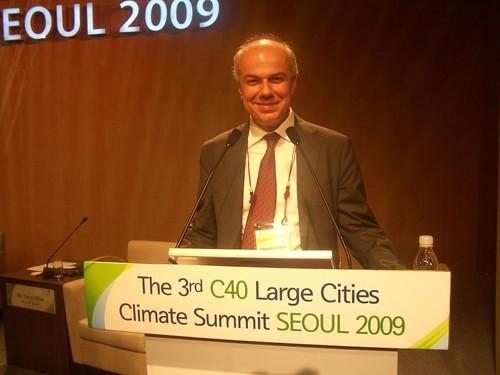 Edoardo Croci a Soul al summit sul clima del C40, 20 maggio 2009