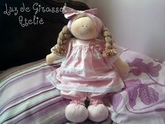 Boneca Fil (Luz de Girassol Ateli) Tags: branco toys bonecas pano rosa beb decorao mame nascimento maternidade brinquedos quartos tecidos
