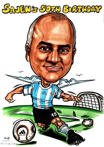 Argentina soccer caricature