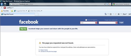 my public Facebook profile has disappeared
