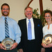 Seniors Jason Godshall  and Sarah Roth received the President's Awards at the athletic honors banquet.