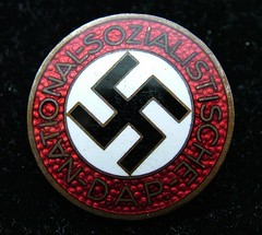 Nazi Party (NSDAP) Enamelled Membership Badge (Das Eiserne Kreuz) Tags: germany deutschland war thirdreich nazi hitler swastika adolfhitler wwii crosses krieg medal kreuz booty german badge ww2 adolf reich worldwar2 deutschen militaria medals worldwartwo hakenkreuz naziparty abzeichen nsdap