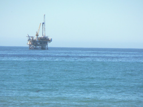 Oil rig off the coast of Santa Barbara
