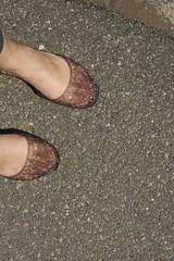 New Shoes (JenGallardo) Tags: street nyc newyorkcity ny newyork feet me shoe jellies shoes pavement ground clear transparent myfeet madden stevemadden inwood inwoodhillpark inwoodpark jellieshoes