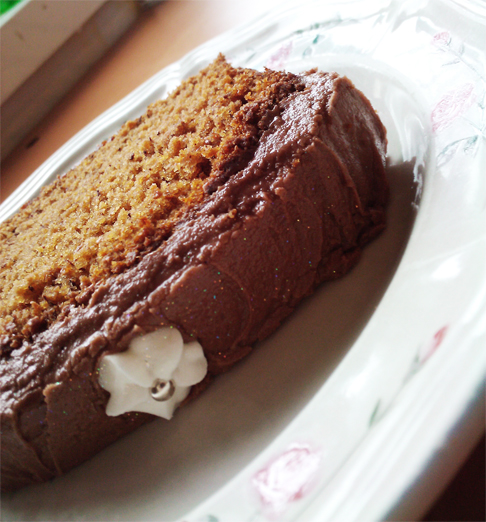 Chocolate Frosted Banana Bread - The Inky Kitchen