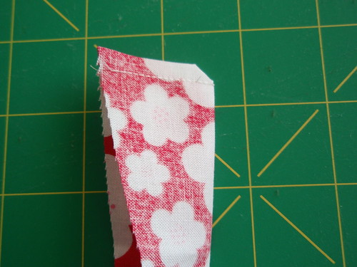 Cutting sewn wedge