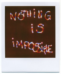 NOTHING IS IMPOSSIBLE () Tags: longexposure lightpainting film polaroid sx70 600 leds analogue expired tbp instantphotography instantfilm 600film theimpossibleproject notsoimpossibleafterall