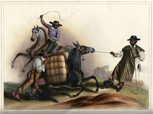 011-Arrieros-Voyage pittoresque et archéologique dans la partie la plus intéressante du Mexique1836-Carl Nebel
