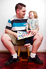 Fun with daddy (fmgbain) Tags: smile wooden colours floor daughter victoria laughting primary vicky henti