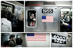 New York, subway, people
