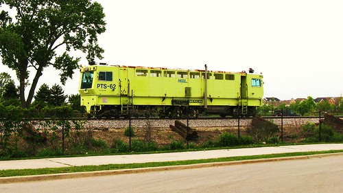 Metra heavy track maintenance work. Glenview Illinois. Monday, May 10th  2010. by Eddie from Chicago
