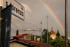 via s.lorenzo (dragonflaitrii) Tags: rain rainbow san via montevarchi lorenzo toscana pioggia arcobaleno uggia