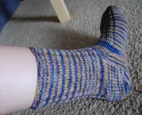 FO: 2x2 rib sock