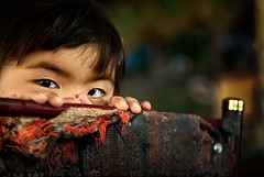 the eyes of a little girl (nahlinse) Tags: portrait girl tibet teahouse everesttrek everesttrek2010