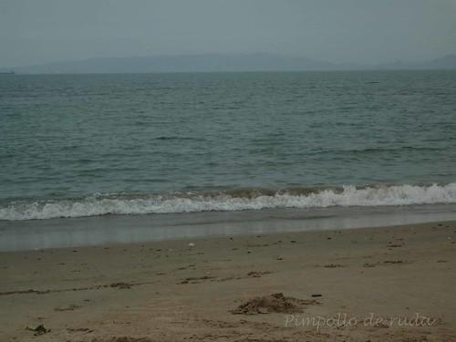 Día nublado en Playa Cangrejo