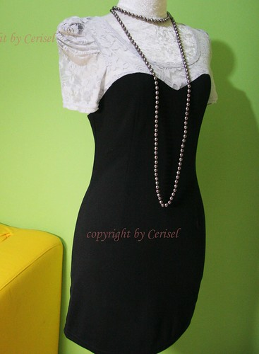 white lace black dress-cd100501