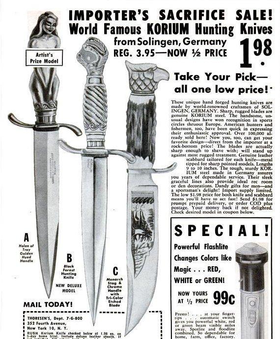 cuchillos para sacrificio