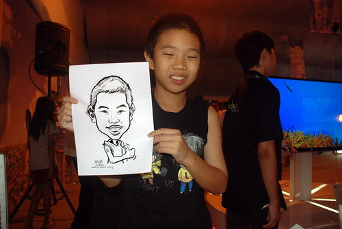 caricature live sketching for LG Infinia Roadshow - day 2 -7