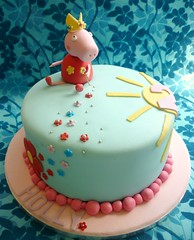 Peppa Pig birthday cake (Star Bakery (Liana)) Tags: nottingham flowers sunshine cake birthdaycake peppapig 2ndbirthday