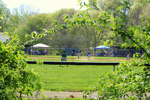 Spring Season Little League Game at  Brown's Chapel Ballfield