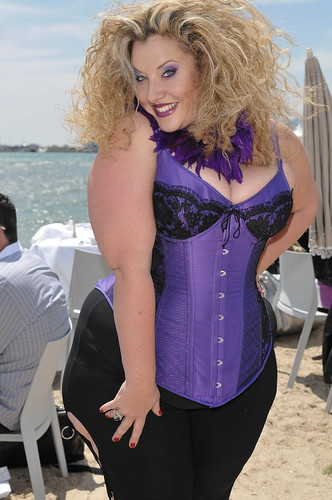 Plus size actress Velvet d'Amour poses for photos at Cannes 2010