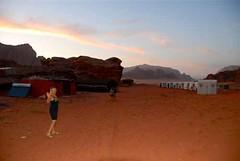Pat at Twilight in Our Bedouin Camp, Wadi Rum, Jordan (waynedunlap) Tags: world travel camp escape desert pat plan jordan your rum now wadi dunlap bedouin judean gurus unhook unhooknow