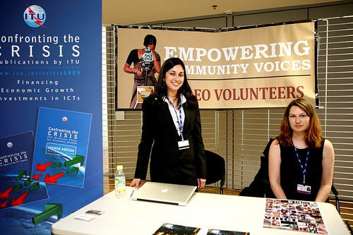 Video Volunteers' Stand at the UN's WSIS Forum 2010