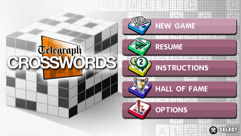 Telegraph Crosswords for PSP