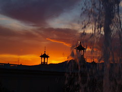 Montjuic sunset behind the Magic Fountain by Oh-Barcelona.com