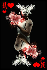 142 King of Hearts (dracorubio) Tags: red white man me tattoo self 3d heart mask personal double card 365 playingcard kingofhearts